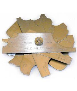 Fillet Weld Gauge, 7 Piece Set (Imperial)