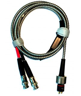 Dual BNC To HT400A Transducer Cable, Armored