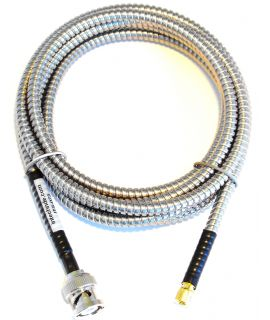 Single Armored BNC To Microdot Transducer Cable
