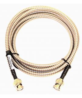 Single Armored BNC To BNC Transducer Cable