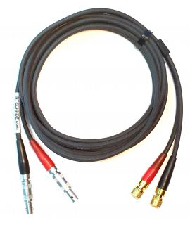 Dual Lemo #00 To Microdot Transducer Cable